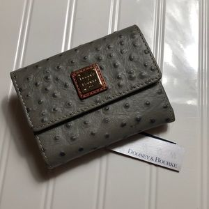 Dooney Bourke Ostrich Mini Grey Wallet